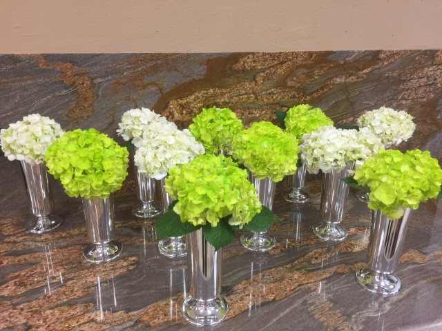 Hydrangea Only Centerpieces : Hydrangea centerpieces for only  each