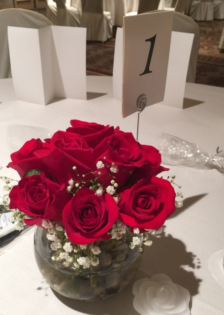 Quot all red roses centerpieces set of about each