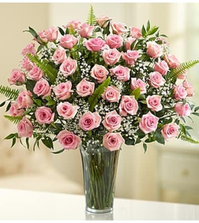 Long Stems Pink Roses