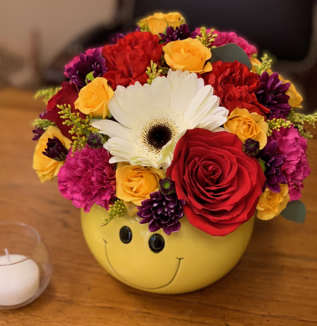smile flower bouquet, happy flowers las vegas