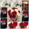 White And Red Roses Wedding Package